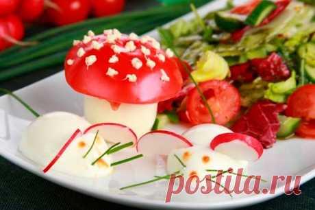 Салат с мышками из яиц – пошаговый рецепт с фото.