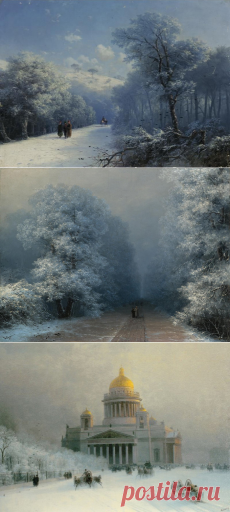 Unknown Ayvazovsky: Fascinating winter landscapes of the glorified marine painter