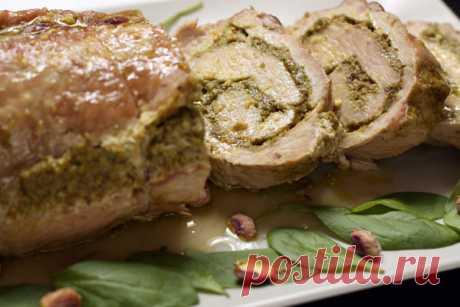 Очень вкусно;)) Запеченный рулет из свинины — Готовим дома