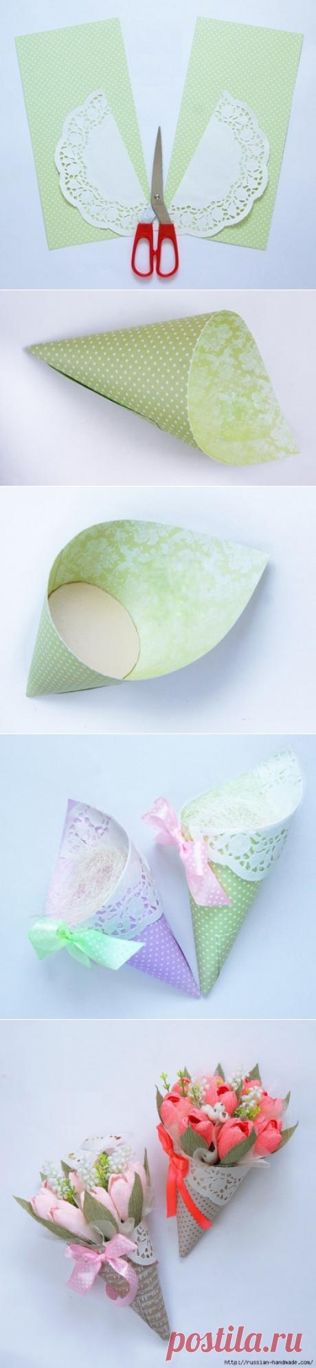 Необычная упаковка для цветов своими руками: мастер-класс — Сделай сам, идеи для творчества - DIY Ideas