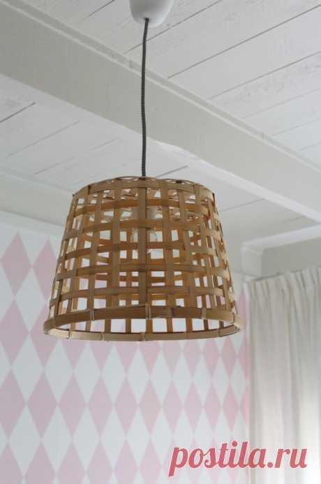 Бюджетная плетеная лампа - Домашний Блог