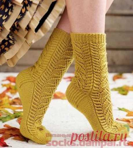 Вязаные носки «Crocus» | ВЯЗАНЫЕ НОСКИ