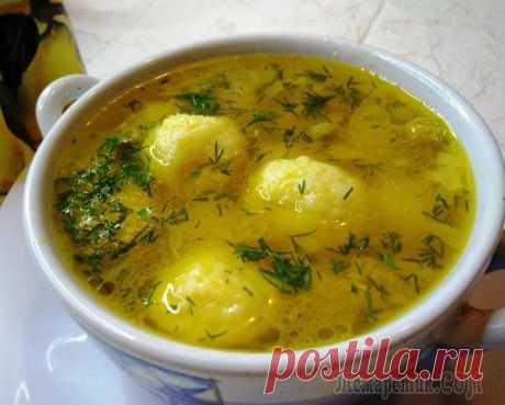 Новый суп с сырными шариками