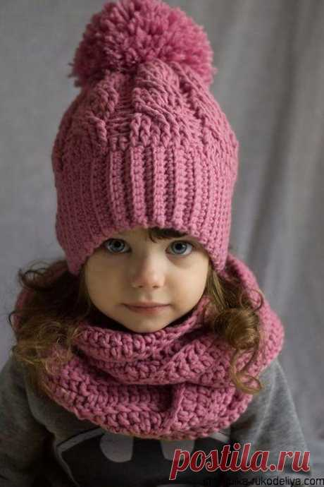 Детская шапка крючком. Вязаная шапочка крючком для девочки схема. | Шкатулка рукоделия