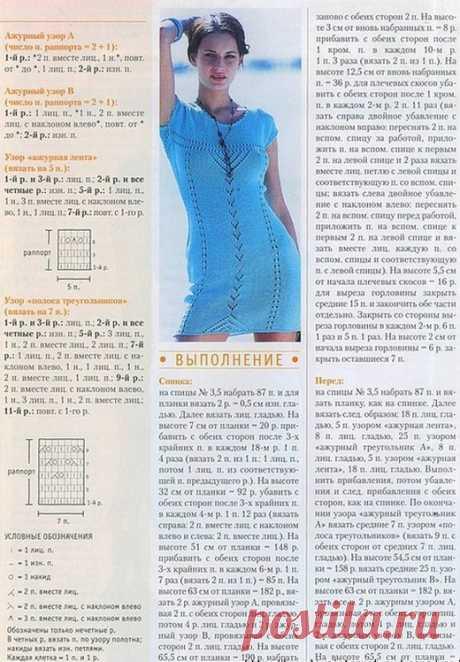 Летнее платье спицами | Вязание для женщин спицами. Схемы вязания спицами
