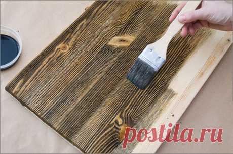"""Как с помощью браширования облагородить любую деревянную мебель - Журнал """"Сам себе изобретатель"""""""