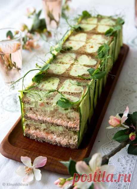 Бутербродный торт — закуска, которая нравится всем, кто бы её ни пробовал - День вдохновения