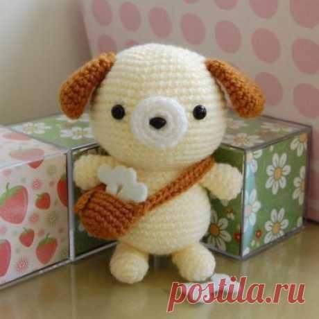 Амигуруми собачка. Описание вязания — DIYDIY.ru вязание: описание, схемы, видео, мастер классы