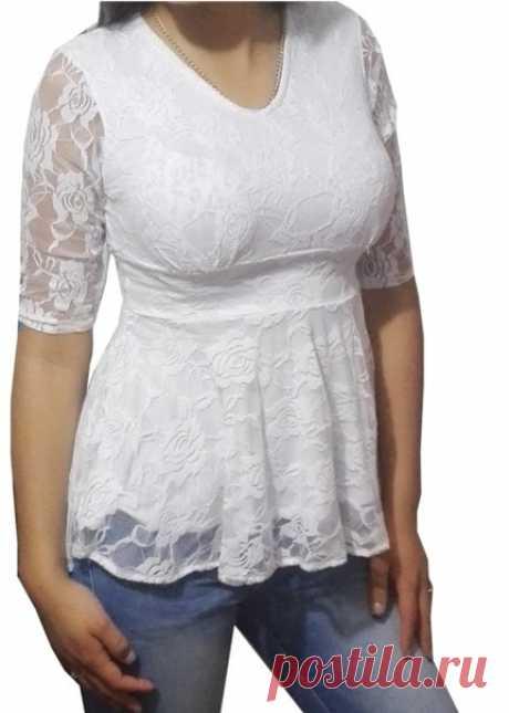 Блузка #Готовые_выкройки на размеры XS-XL