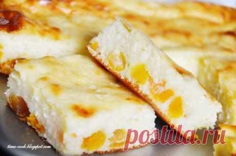 Творожный пудинг с курагой Продукты: 400 гр.... / Еда и напитки / Рецепты / Pinme.ru