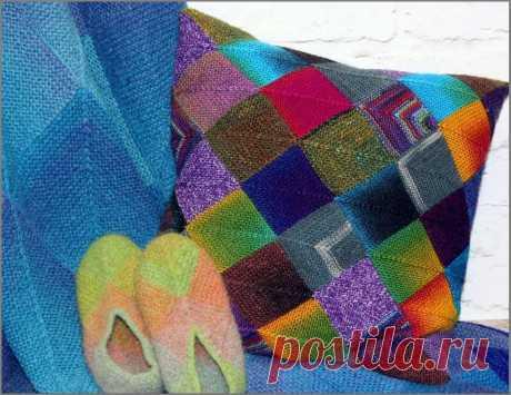 Вязаный пэчворк. Подборка шикарных работ | Красота Рукодельная | Яндекс Дзен