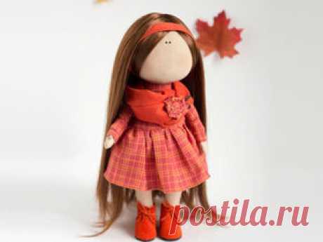 Текстильная кукла от макушки до пяточек - Ярмарка Мастеров - ручная работа, handmade