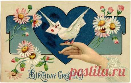Vintage Birthday Illustration - The Graphics Fairy