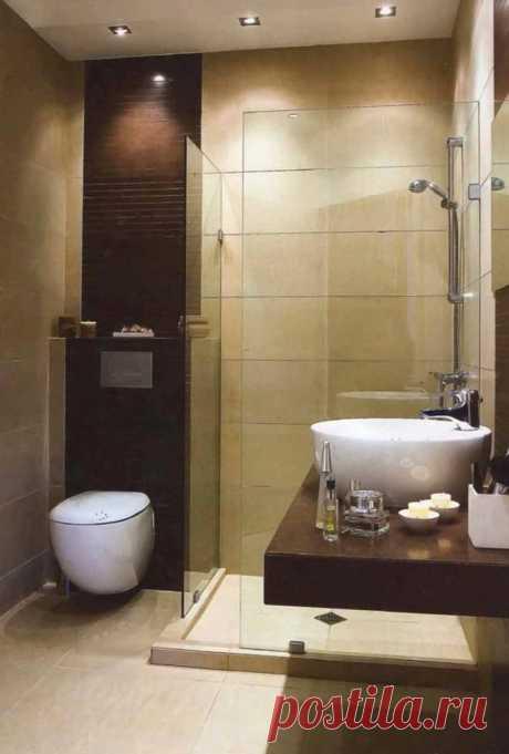 El diseño del cuarto de baño con la cabina por cabeza