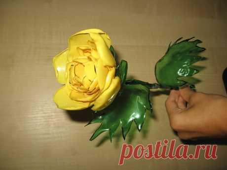 Мастер-класс по изготовлению розы из пластиковых бутылок