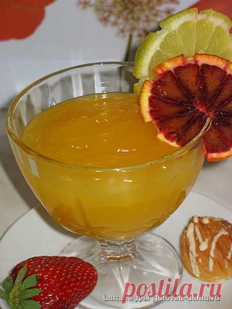 Цитрусовый конфитюр  Lana66 »Таким конфитюром можно смазывать блины и оладушки.Продукты:апельсин 1 шт.лимон 1 шт.на 120 мл сока 1 стакан сахара120 мл холодной воды3 ст. л. крахмалаПриготовление:Лимон и апельсин почистить…