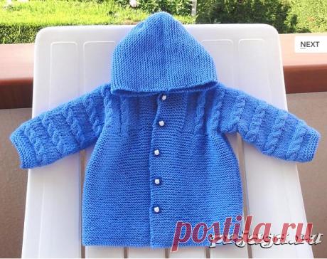 Пальто спицами для детей от Filomena Lanzara.