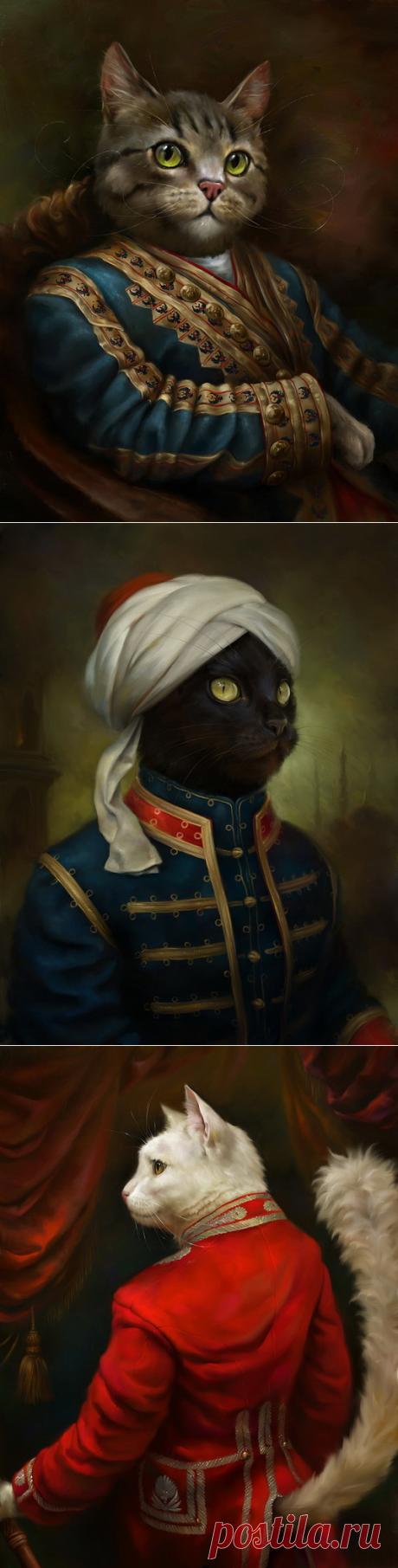 Коты Эрмитажа на открытках Эльдара Закирова