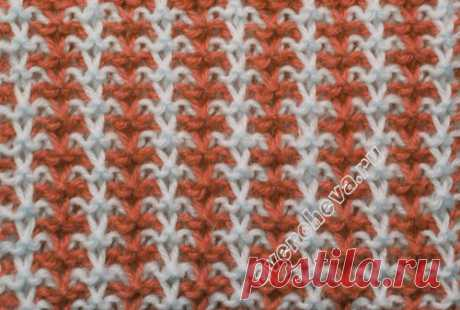 pattern 229th lazy two-color elastic band | catalog knitted spokes of patterns