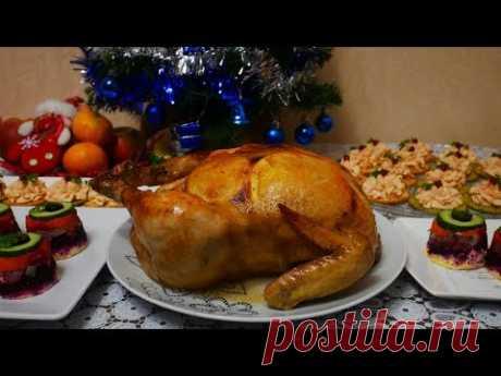 Запеченная Курица в духовке с АПЕЛЬСИНАМИ и в МАРИНАДЕ.Запеченное САЛО в духовке