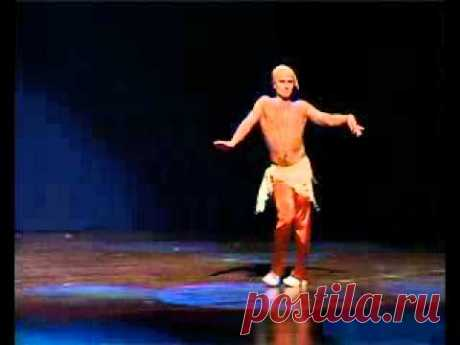 It's worth seeing! Man's oriental dance zhivota.flv