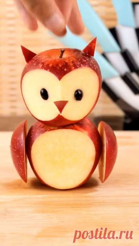 Owl from apple, creativity is inside anyone.