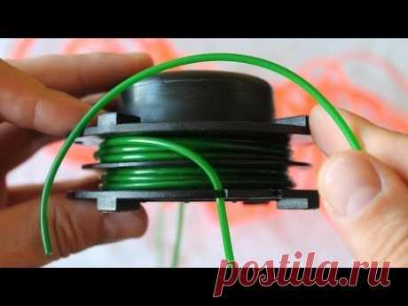 Как намотать леску на  косильную головку триммера или мотокосы