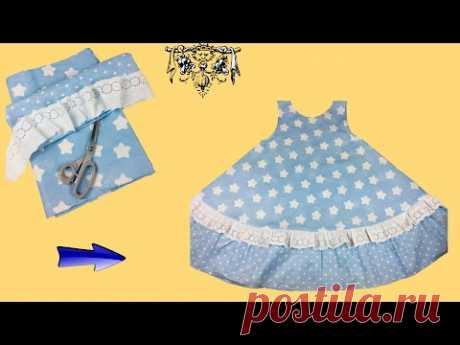 Шьём домашнее платье без выкройки за 10 минут