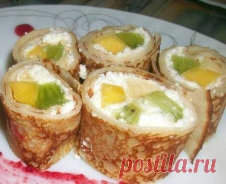 Como preparar rolly con las frutas - la receta, ingridienty y la fotografía