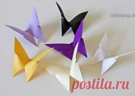 Las mariposas del origami - el Mar de las ideas - la costura, la decoración de la casa, el artículo y hand made.