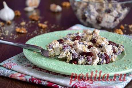 Фасолевый салат с курицей рецепт с фото пошагово и видео - 1000.menu