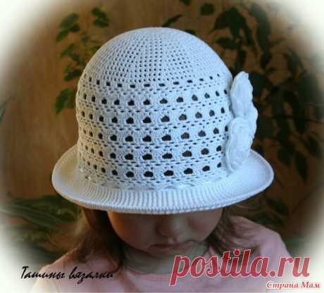 El sombrero de señora blanco como la nieve - la Labor de punto - el País de las Mamás