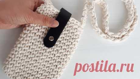 как связать сумочку для телефона крючком– Google Поиск