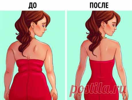 Готовимся, уже  лето — 6 упражнений, которые помогут забыть о жировых складках на спине и боках | Люблю Себя