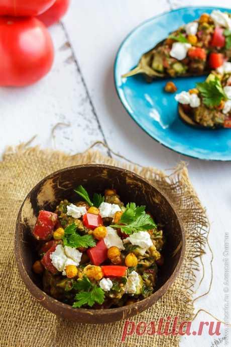 Салат из баклажанов, запеченных в духовке