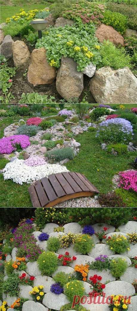 Уютный уголок в саду - альпийская горка.