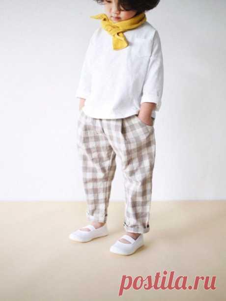 Выкройка детских брюк со складкой на рост 68-92 и 104-134 источник https://vk.com/vikroyki.besplatno