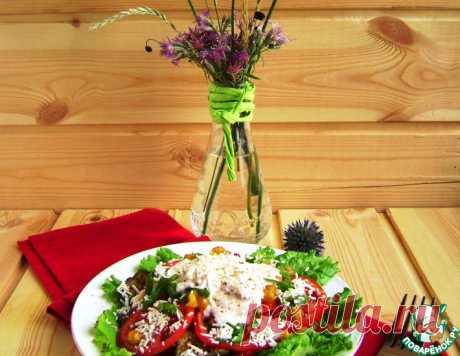 Салат-гриль с нутом и баклажанами – кулинарный рецепт