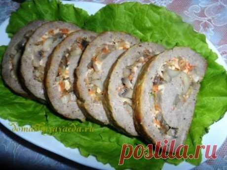 Мясной рулет с грибами | 4vkusa.ru