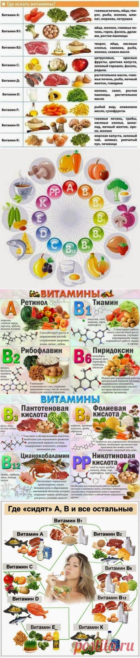 El papel de las vitaminas para el organismo de la persona
