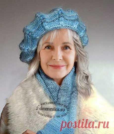 Вязание берета для пожилых женщин - зимние шапки береты 2019-2020