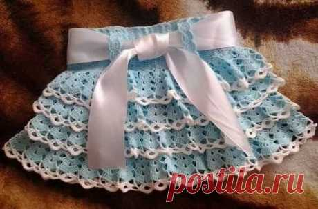Узор для вязания юбочки