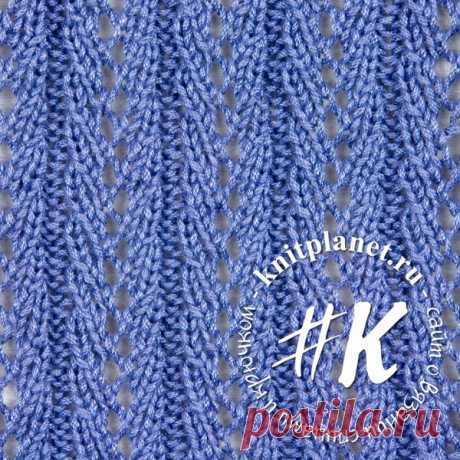 Planet of Knitting | Openwork pattern spokes No. 11. Scheme and description of knitting of a pattern.