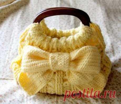 Вязание крючком : Красивая сумка!