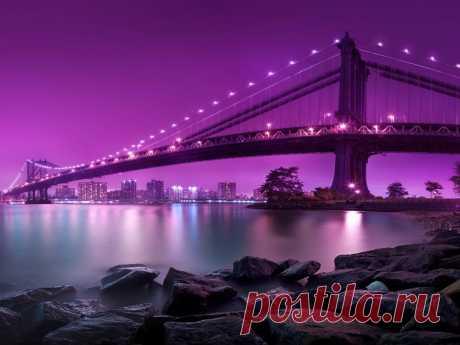 «New York Manhэtten Hanging bridge lighting Desktop Wallpaper HD 5120x3200 1920x1440» — карточка пользователя Ольга Ц. в Яндекс.Коллекциях