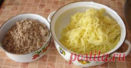 Случайно увидела,попробовала приготовить,пальчики оближешь) Картофельные зразы   Ингредиенты:  500 гр-.нежирной свинины ;  1, 5 кг-картофеля;  1- луковица ;  50 гр.сливочного масла  1/2 стакана муки  100 гр.растительного масла для обжарки зраз  соль, перец - по вкусу   Приготовление: Свиную мякоть пропускают через мясорубку, добавляя соль и перец по вкусу. Лук измельчают, и обжаривают с фаршем. Из картофеля готовят крутое пюре, (остудить) добавляя в него соль, сливочное ма...