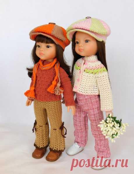 Кепка для куклы связанная крючком. Мастер-класс по вязанию