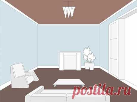 Как сочетать пол, потолок и стены