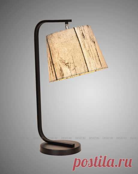 Лампа настольная 1-ламповая с тканевым абажуром в стиле Modern