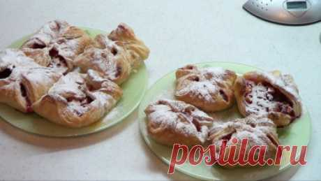 Слоеные пирожки с яблоками и брусникой - Сладкие пироги и кексы